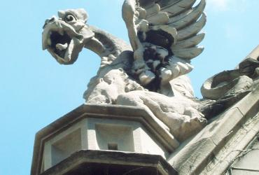 gargoyle over Hull Court